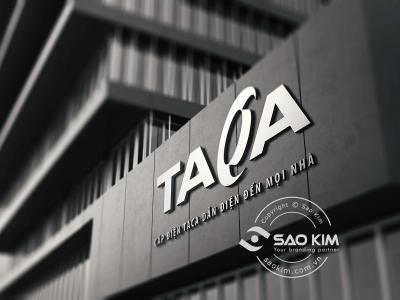 TACA - Thiết kế logo dây cáp điện Taca