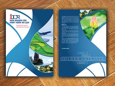 VIỆN NGHIÊN CỨU DU LỊCH - Thiết kế brochure cho Viện nghiên cứu Du lịch