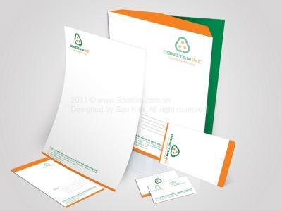 Thiết kế logo và hệ thống nhận diện thương hiệu vật liệu xây dựng Dong Tam