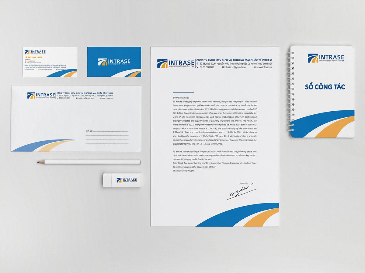 Đặt tên và thiết kế nhận diện công ty Intrase tại Hà Nội