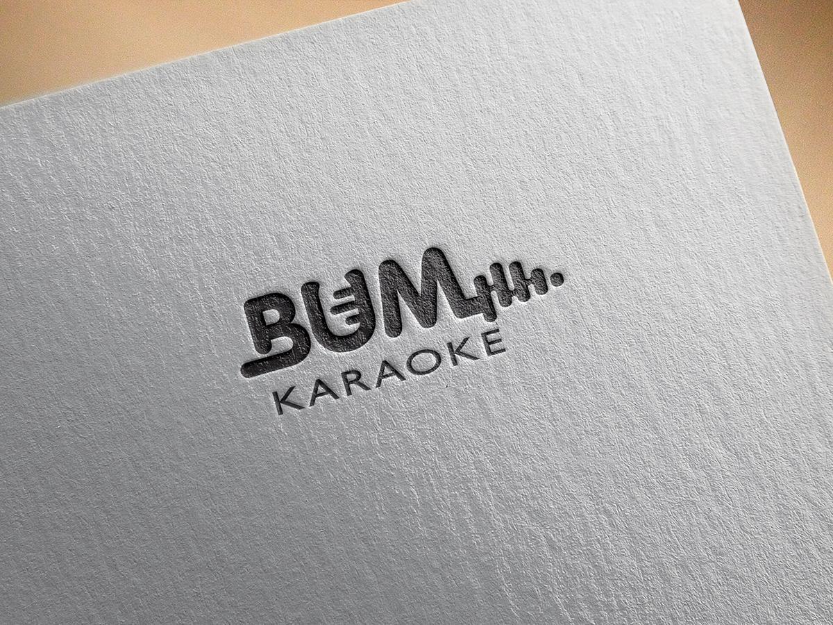 Thiết kế logo và nhận diện Bum Karaoke tại Bến Tre