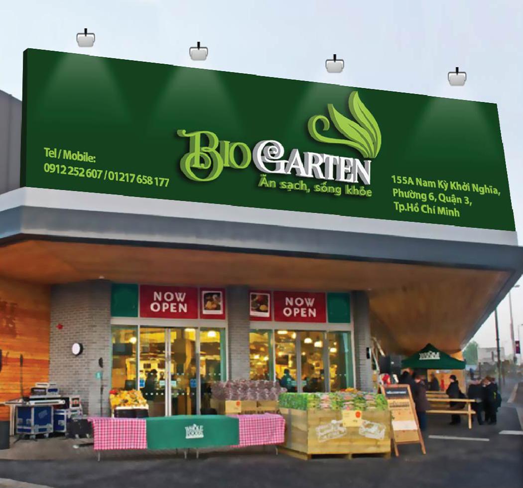 Thiết kế logo và bộ nhận diện thương thực phẩm hữu cơ BioGarten tại TP HCM