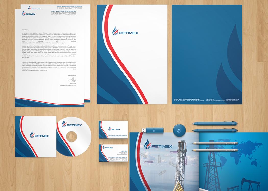 Thiết kế logo và nhận diện thương hiệu Công ty Dầu khí Petimex tại Đồng Nai, Đồng Tháp, Cần Thơ