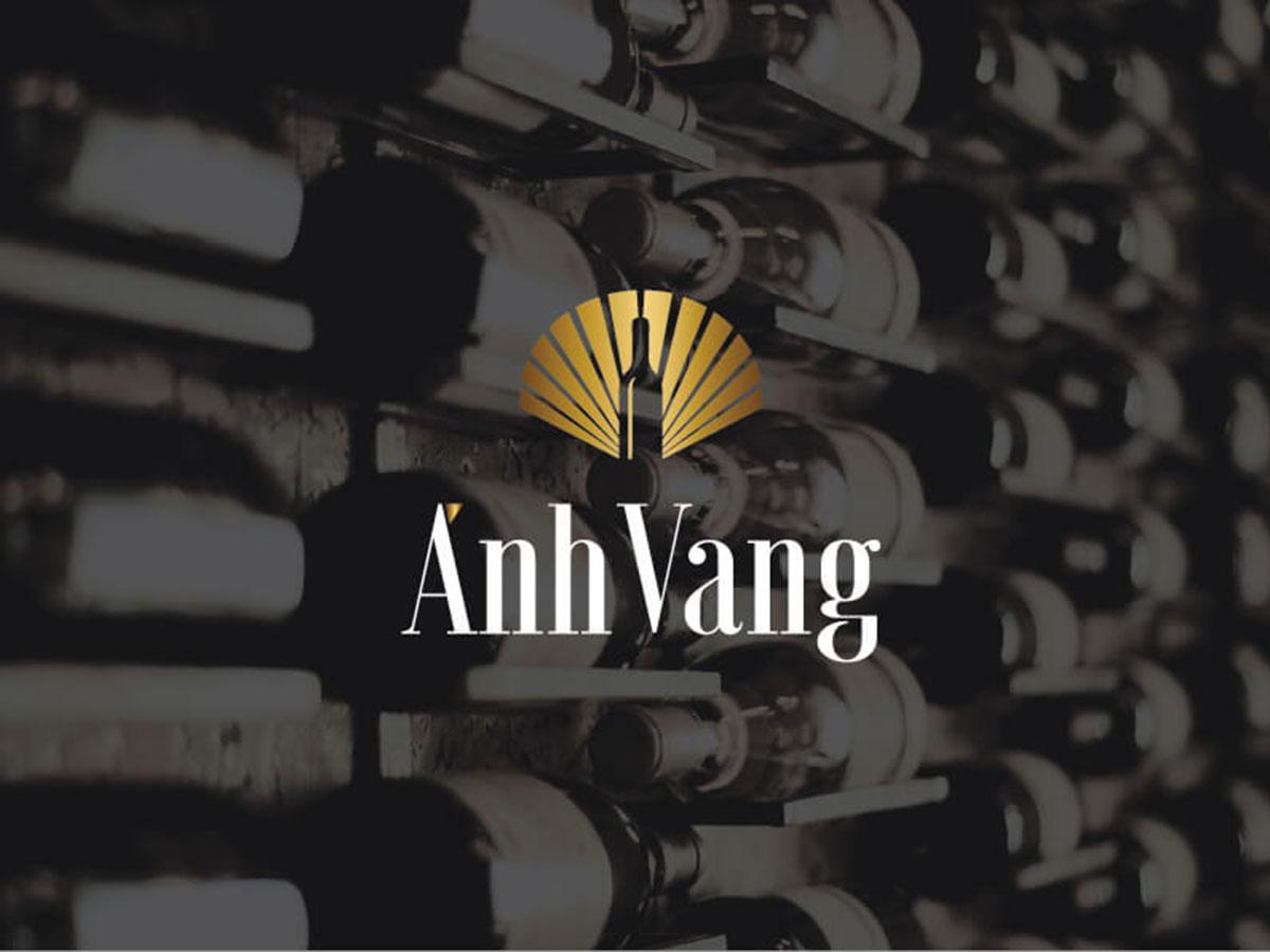 Thiết kế logo rượu nhập khẩu Ánh Vang tại Hà Nội