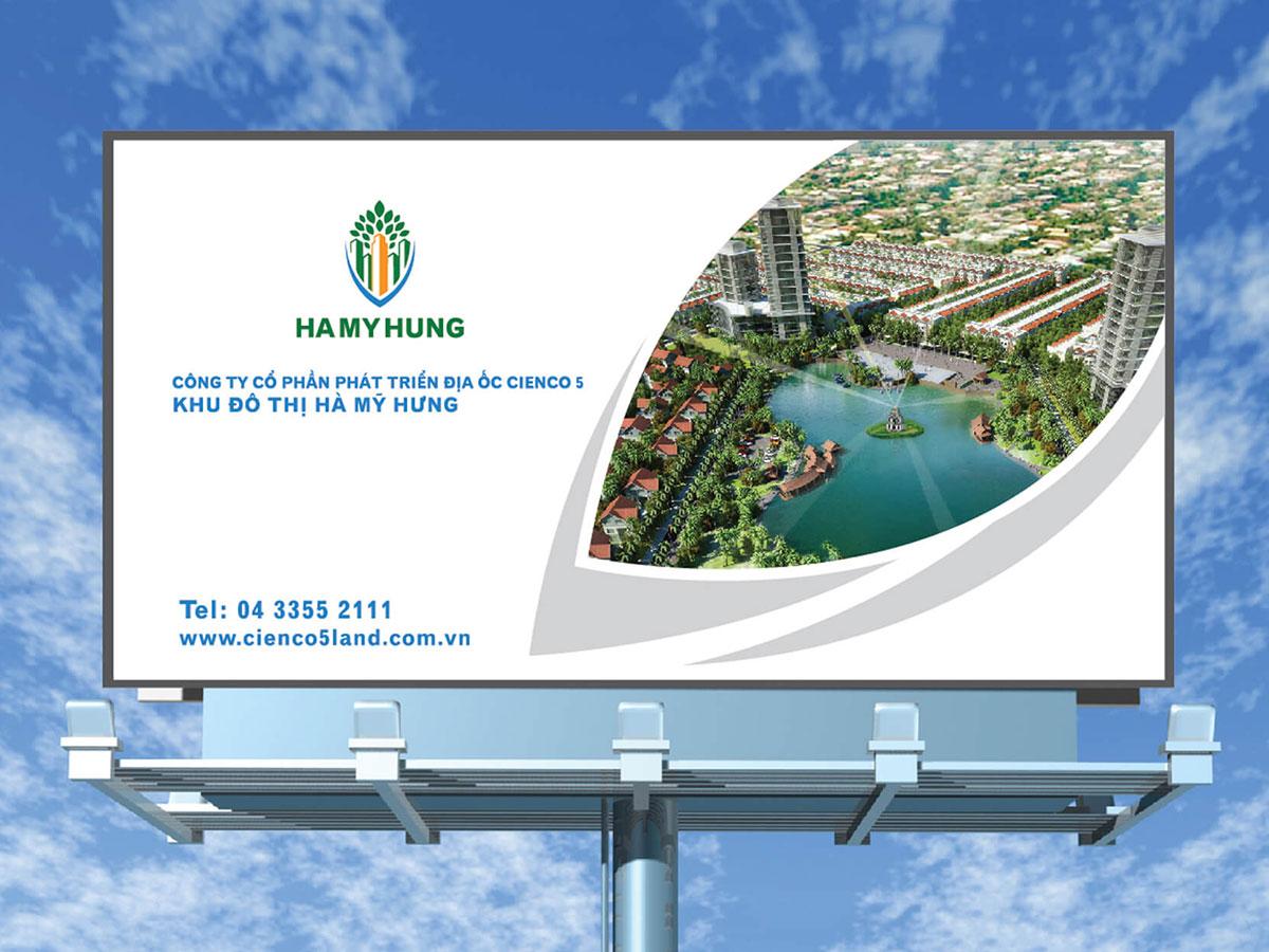 Thiết kế nhận diện thương hiệu khu đô thị Hà Mỹ Hưng tại Hà Nội