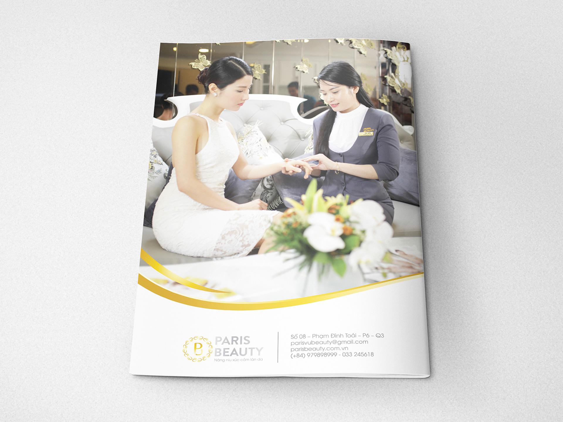 Sáng tác slogan, thiết kế logo thương hiệu và website spa Paris Beauty tại TP HCM