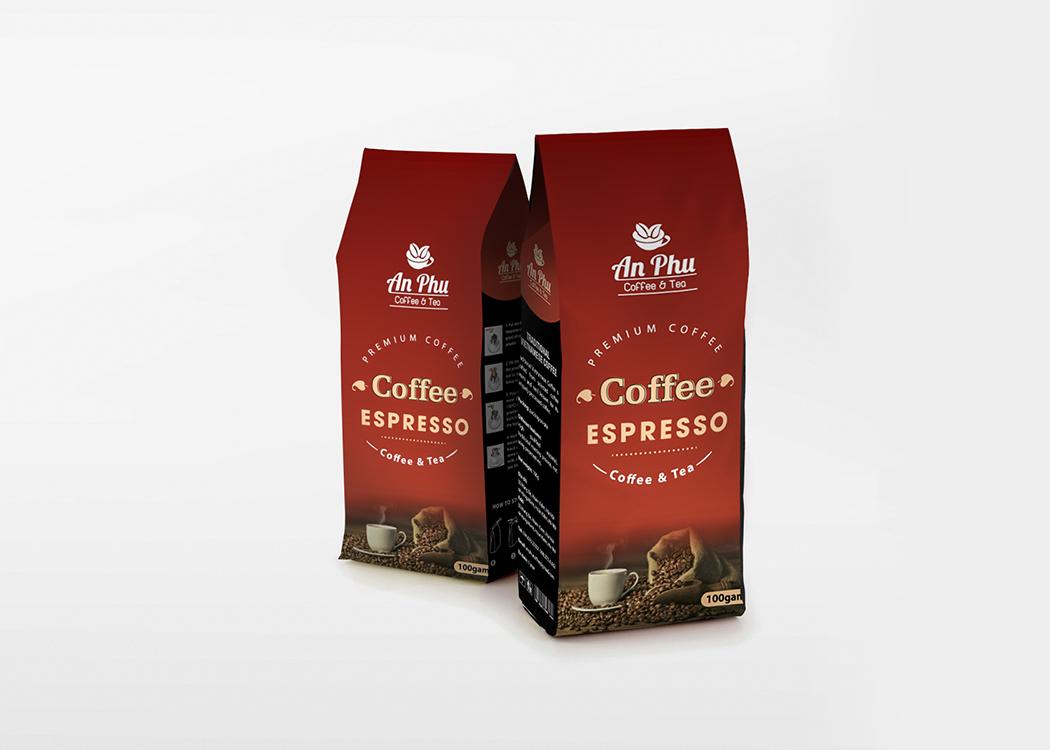 Dự án thiết kế logo và bao bì sản phẩm cà phê AN PHÚ tại Hà Nội
