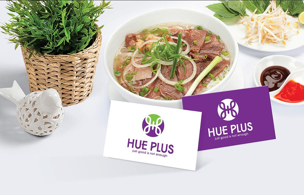 Thiết kế logo và hệ thống nhận diện thương hiệu nhà hàng Hue Plus tại TP HCM