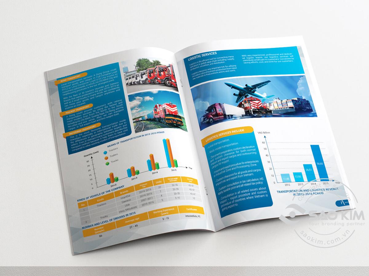 Biên soạn nội dung và thiết kế profile Vận tải Á Đông tại TP HCM