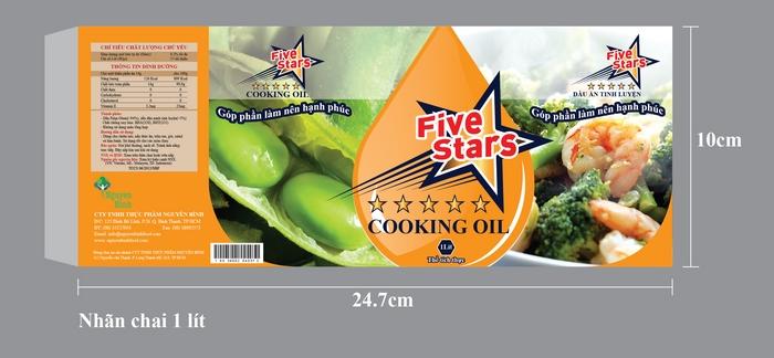 Thiết kế thương hiệu dầu ăn 5Stars tại TP HCM