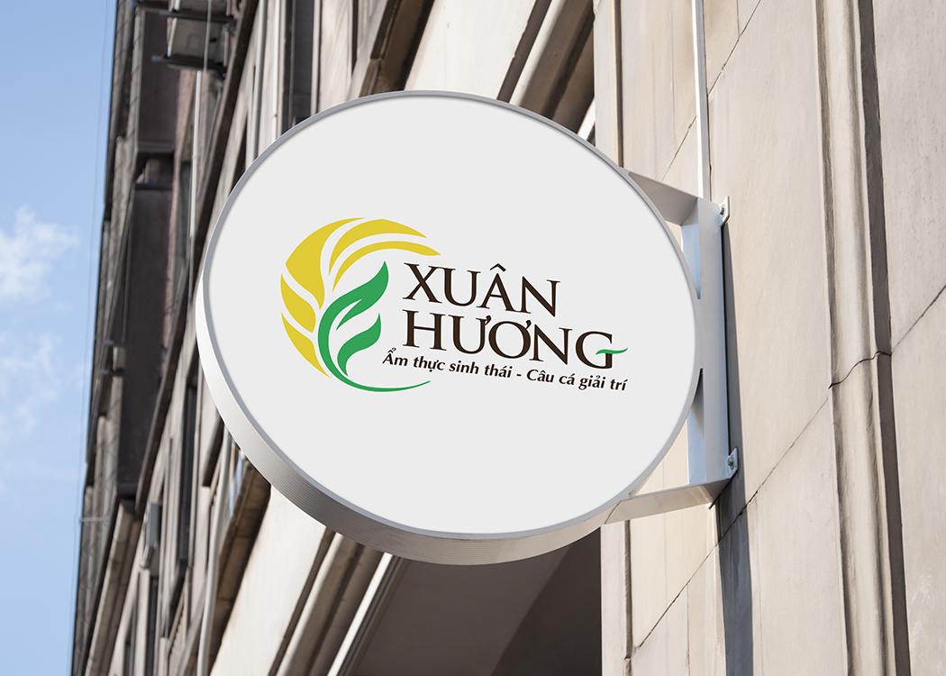 Thiết kế logo và hệ thống nhận diện nhà hàng sinh thái Xuân Hương tại TP HCM