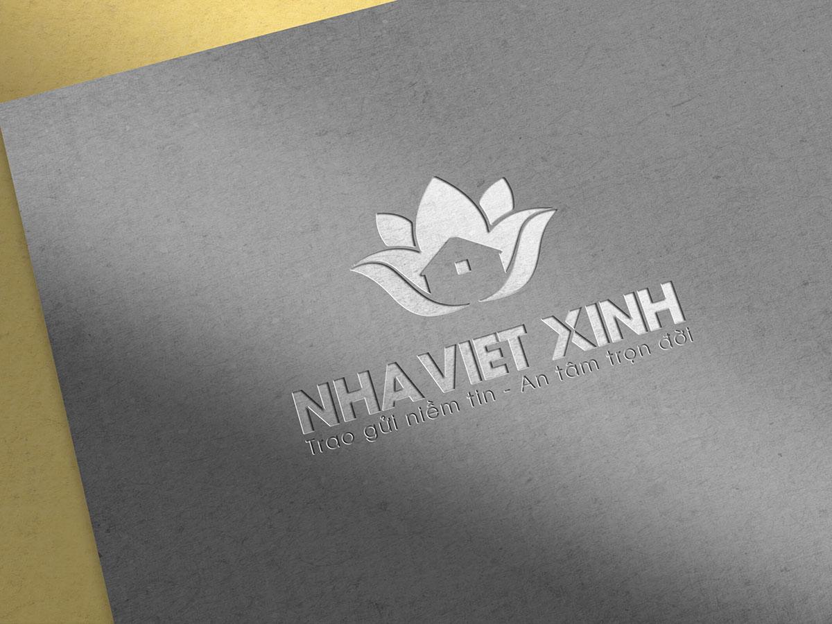 Thiết kế logo công ty Nhà Việt Xinh tại Hà Nội