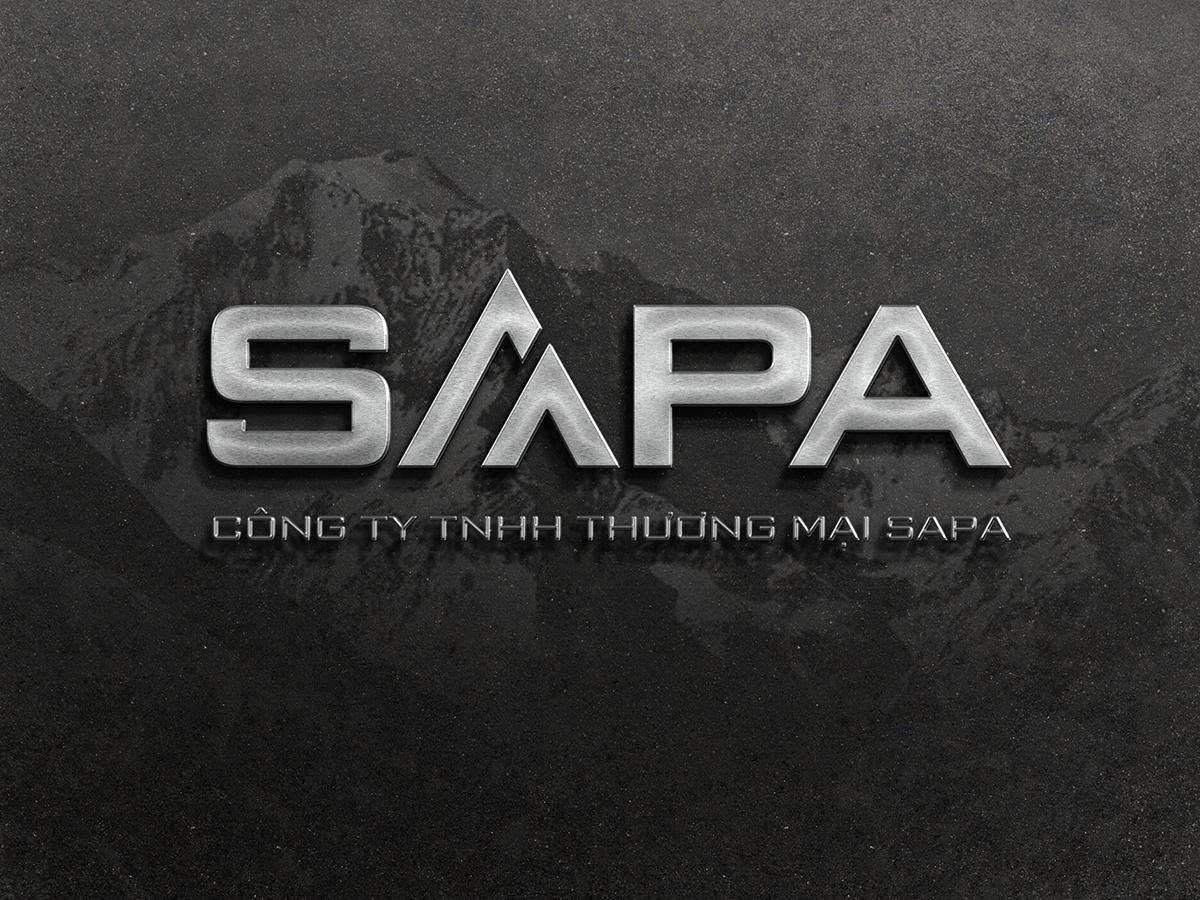 Thiết kế logo công ty thương mại Sapa tại TP HCM