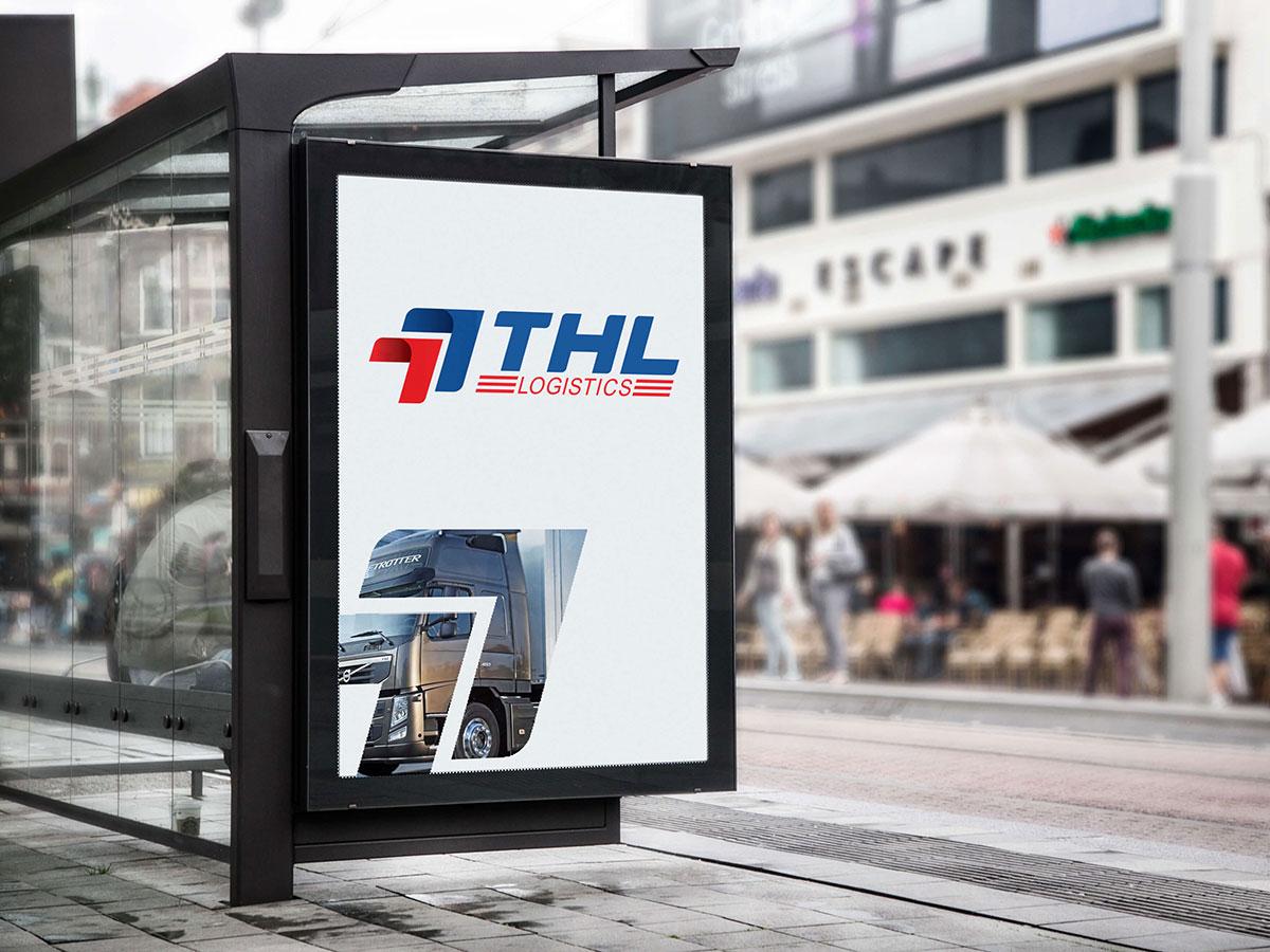 Thiết kế logo và bộ nhận diện văn phòng THL Logicstic tại Hà Nội
