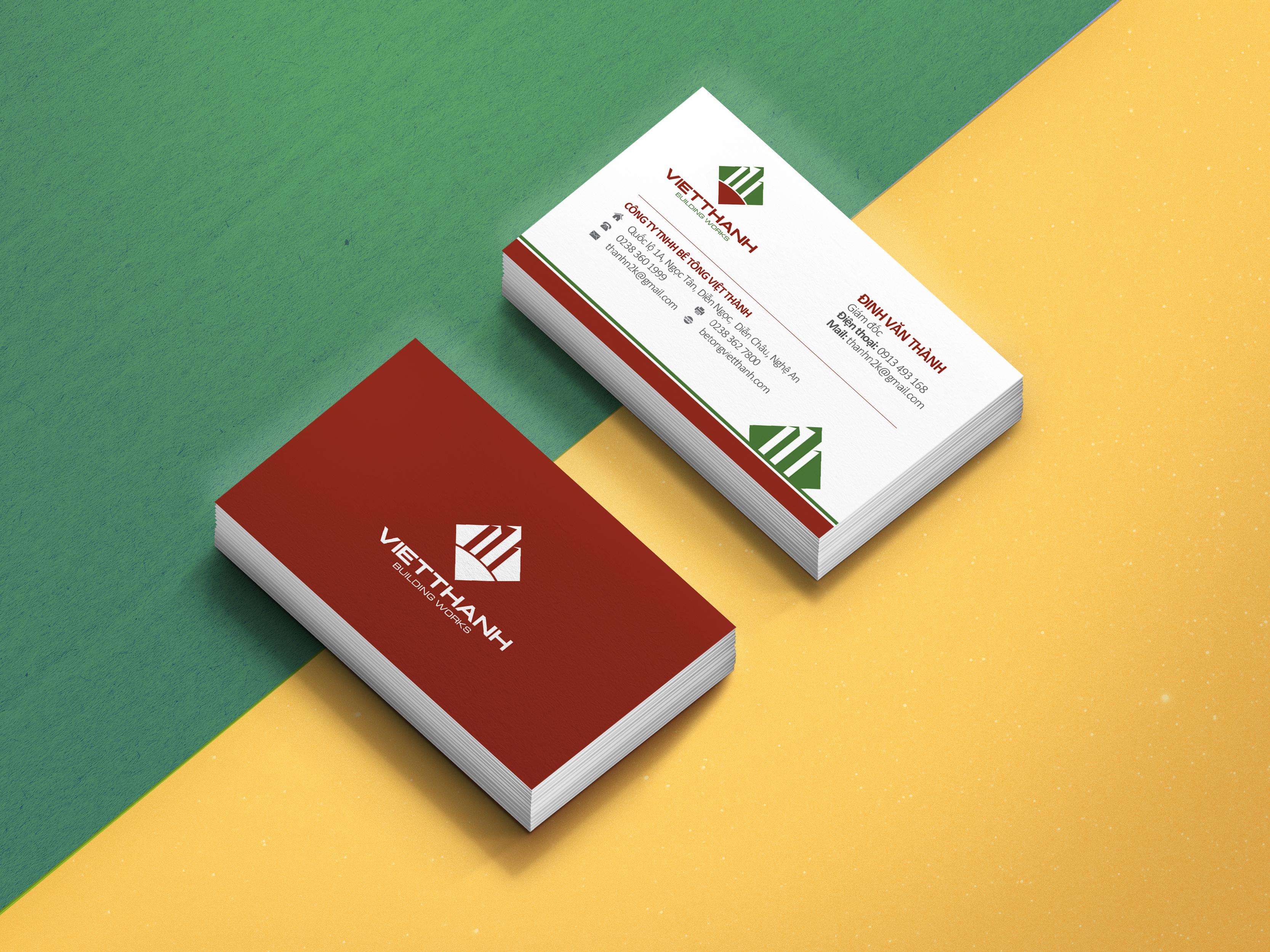 Thiết kế logo và bộ nhận diện thương hiệu cơ bản Công ty bê tông Việt Thành tại Hà Giang