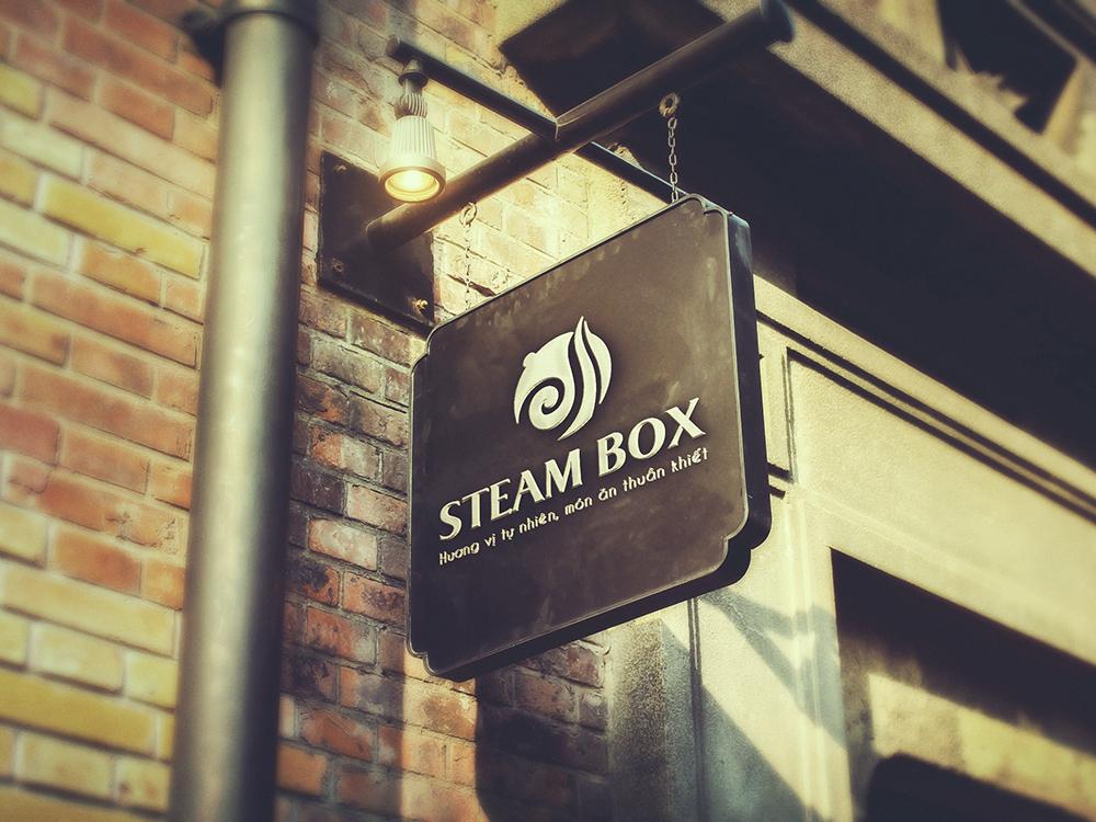 Thiết kế logo và nhận diện thương hiệu nhà hàng đồ hấp Steam Box tại Hà Nội