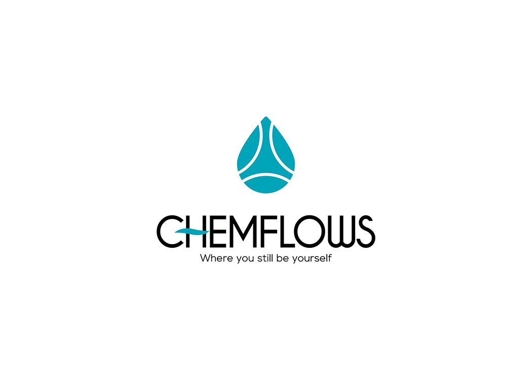 Thiết kế logo và nhận diện thương hiệu công ty hoá chất CHEMFLOWS tại Hà Nội, TP HCM