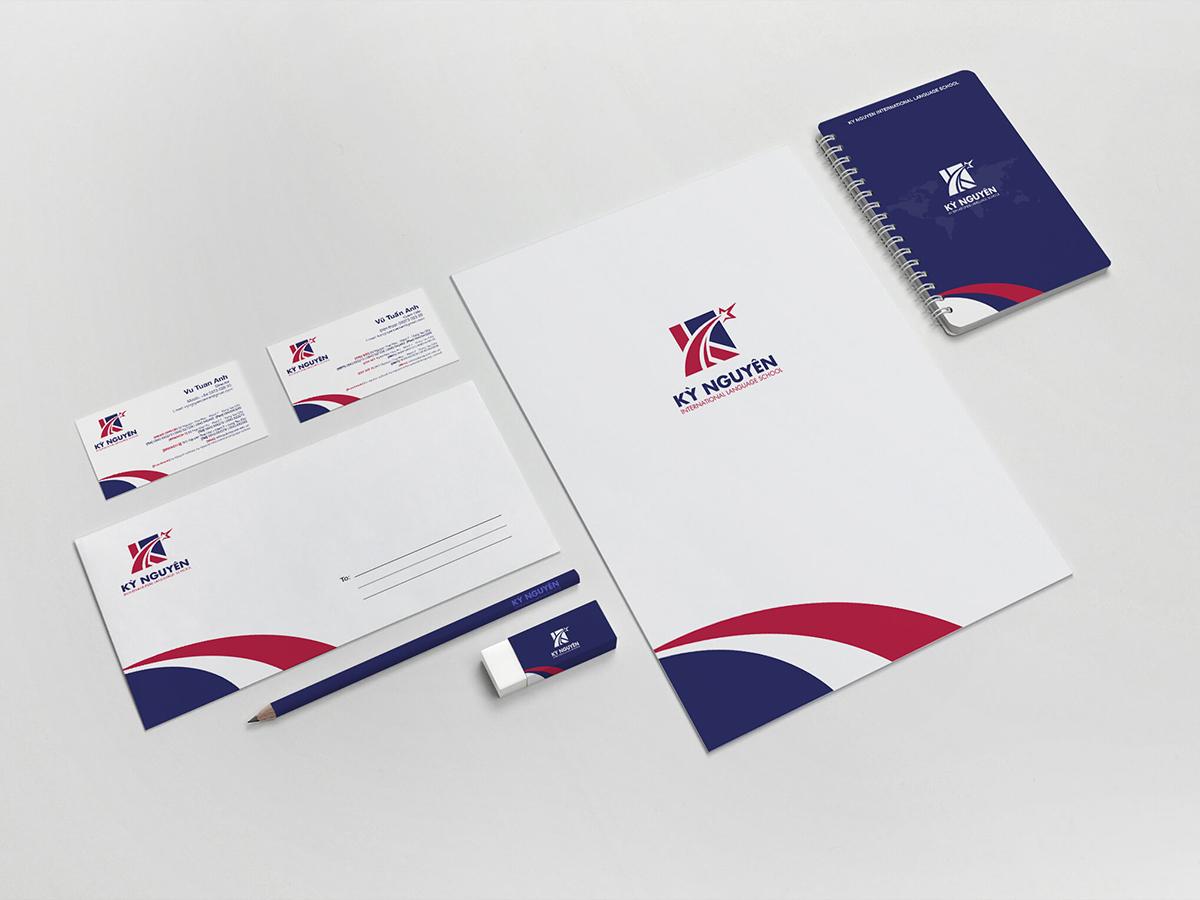 Thiết kế logo và nhận diện thương hiệu Anh Ngữ Kỳ Nguyên tại Bà Rịa Vũng Tàu
