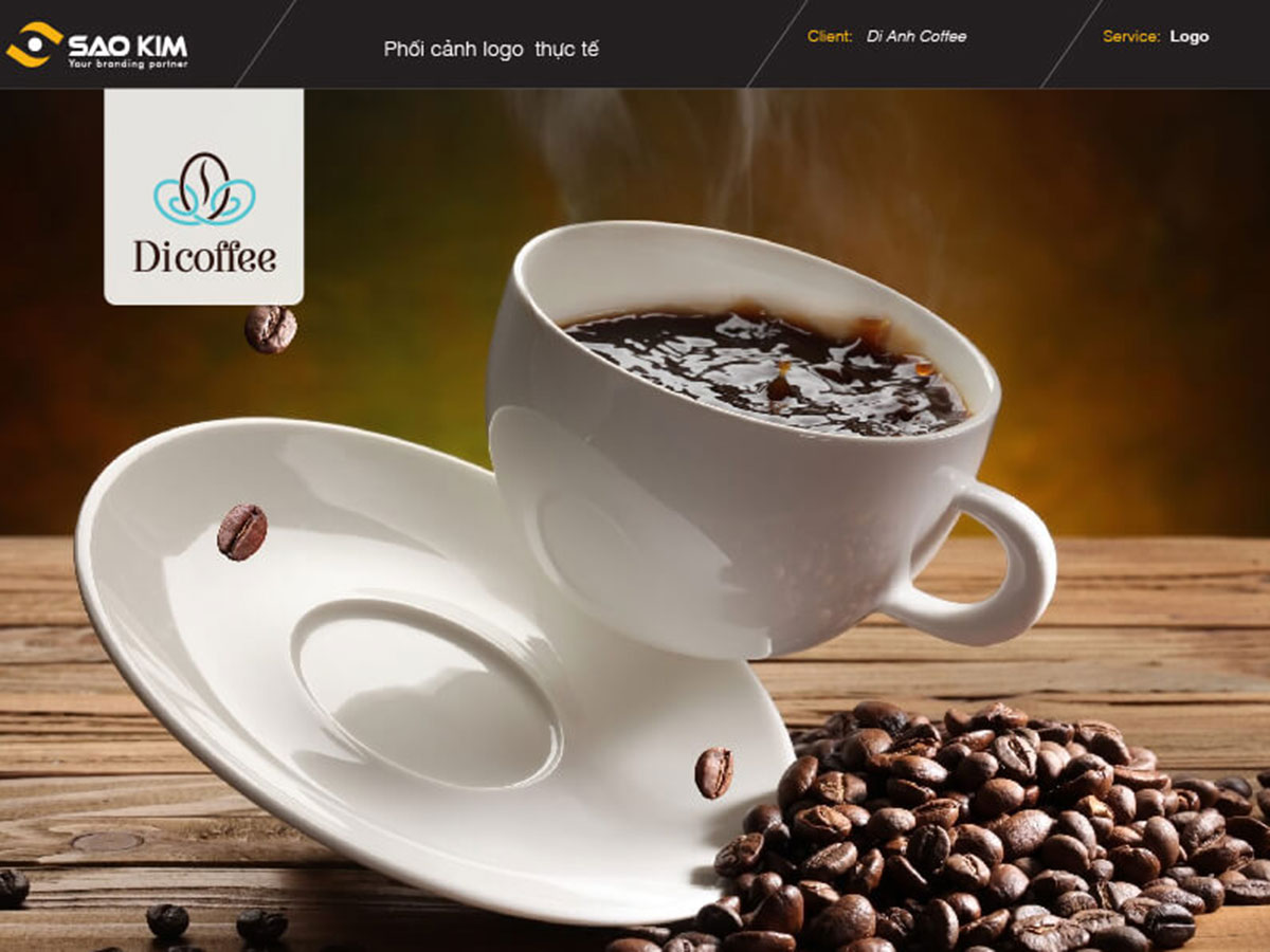 Thiết kế logo Di coffee tại TP HCM