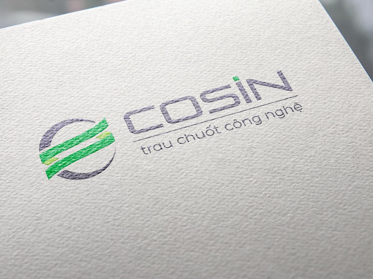 Thiết kế logo nhận diện thương hiệu công nghệ Cosin tại TP HCM