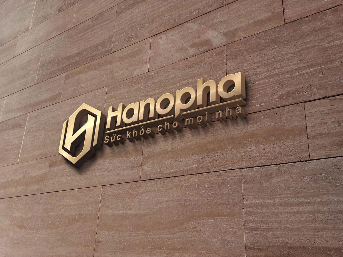 Thiết kế logo thương hiệu dược phẩm Hanopha tại Hà Nội
