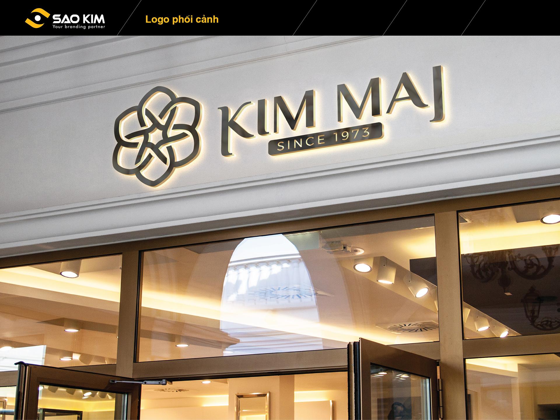 Thiết kế logo và biển bảng thương hiệu trang sức nữ cho doanh nghiệp Kim Mai tại An Giang