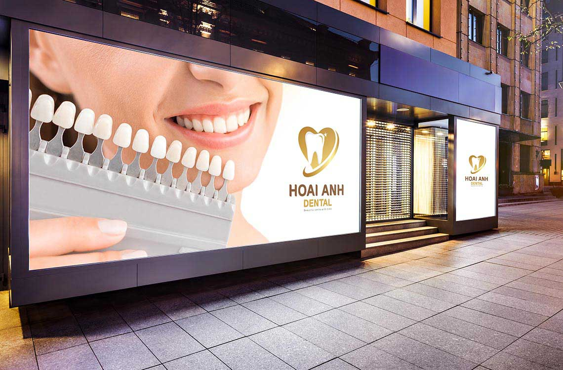 Thiết kế logo phòng khám nha khoa Quốc Tế Hoài Anh tại Hà Nội