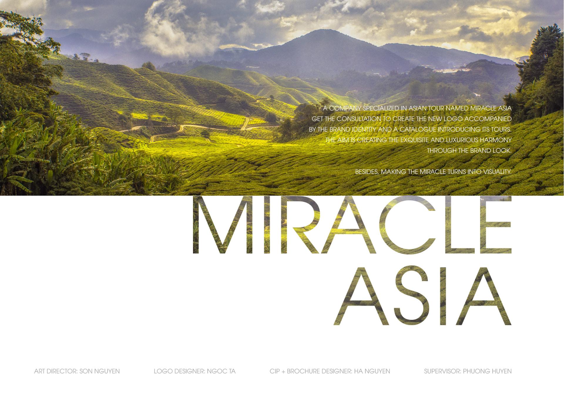 Thiết kế logo và nhận diện thương hiệu Miracle Asia Travel tại Hà Nội