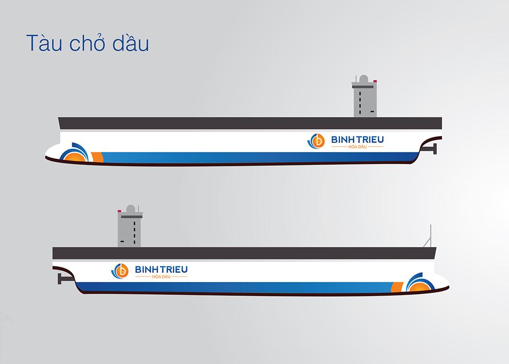 Thiết kế logo và hệ thống nhận diện thương hiệu công ty hoá dầu Bình Triệu tại TP HCM
