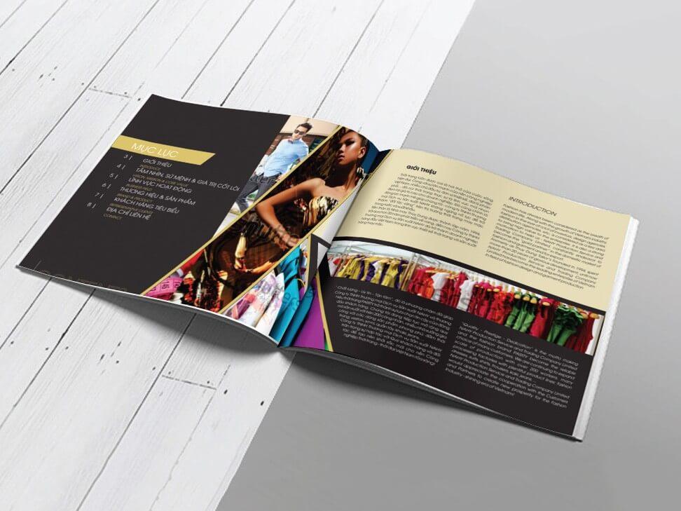 Thiết kế profile công ty NAHY tại TP HCM