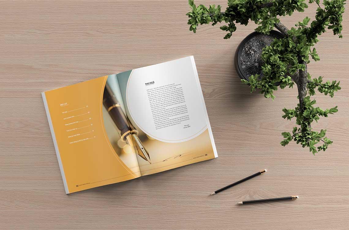 Thiết kế profile tập đoàn Minh Anh tại Hà Nội