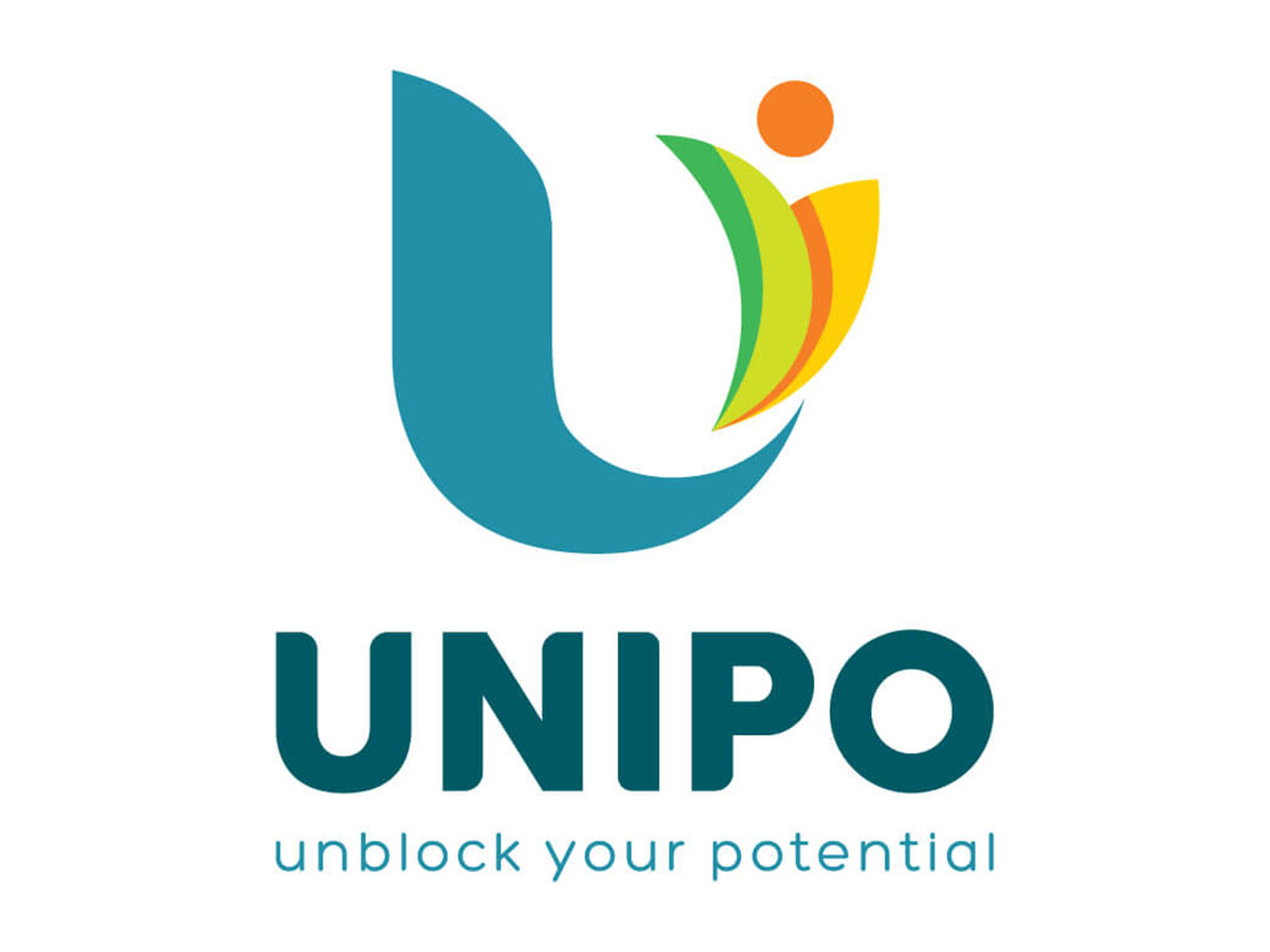 Đặt tên thương hiệu và thiết kế logo trung tâm Anh ngữ UNIPO tại Vĩnh Long