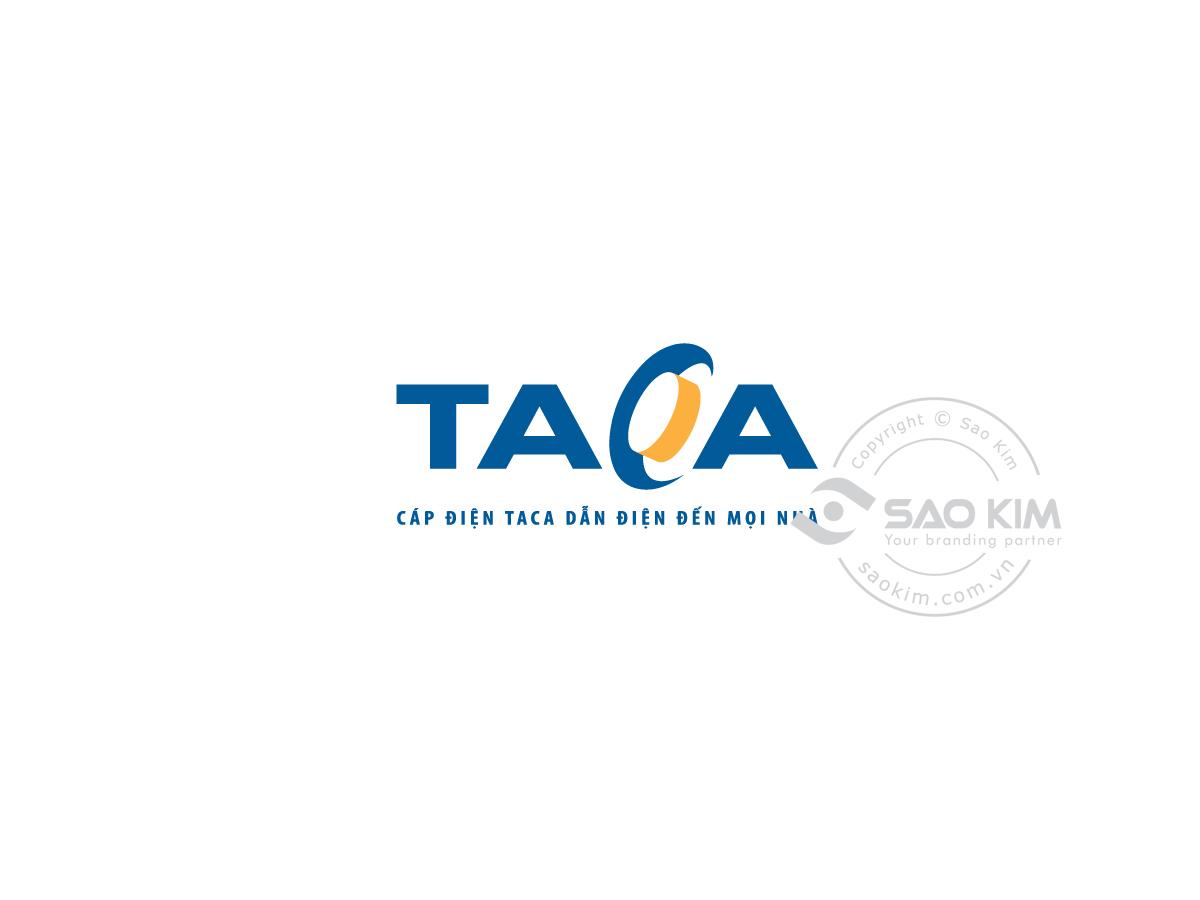 Thiết kế logo dây cáp điện Taca tại Long An