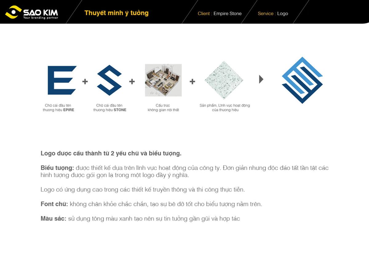 Đặt tên và thiết kế thương hiệu mới toàn diện cho đá thạch anh Empire Stone tại Hà Nội