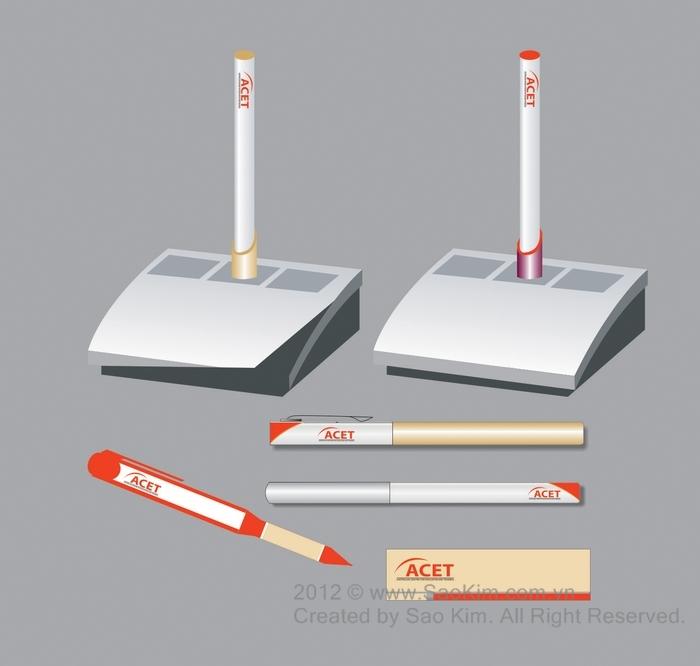 Thiết kế logo và nhận diện thương hiệu trung tâm anh ngữ ACET tại Hà Nội