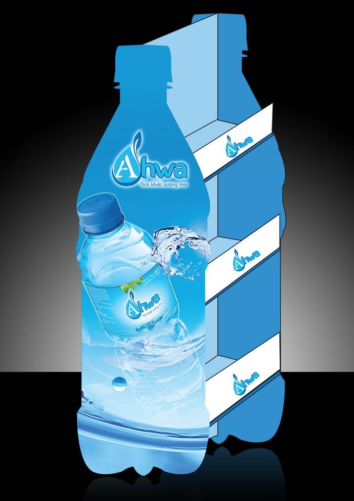 Sáng tạo tên thương hiệu và thiết kế logo nước tinh khiết Ahwa tại Phú Thọ