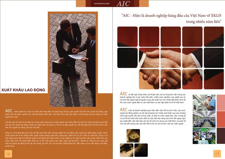 Thiết kế hồ sơ năng lực cho Công ty CP tiến bộ Quốc Tế (AIC) tại Hà Nội