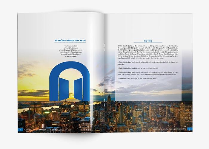 Thiết kế profile công ty bất động sản An Cư tại Hà Nội