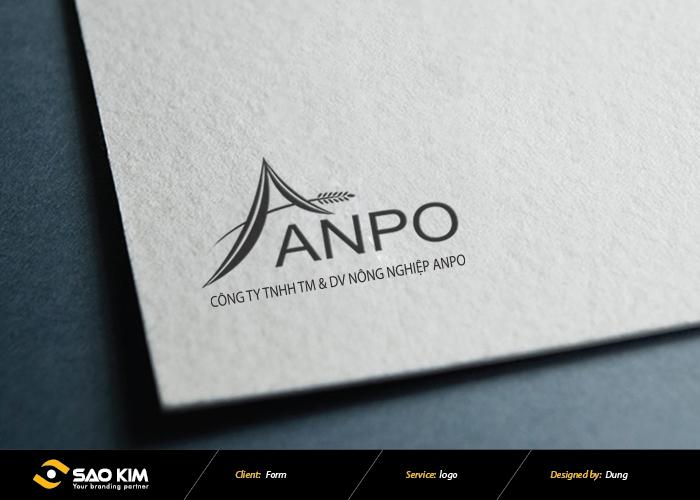 Thiết kế logo Dịch Vụ Nông Nghiệp Anpo tại Bắc Ninh