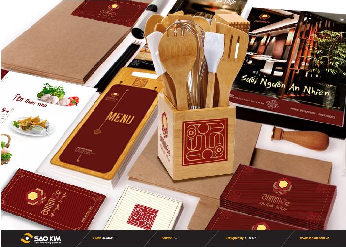 Thiết kế nhận diện thương hiệu cho nhà hàng chay Aummee tại Hà Nội