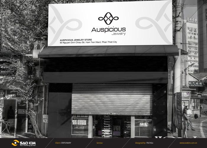 Thiết kế logo nhận diện thương hiệu trang sức Auspicious Jewelry tại Bình Thuận