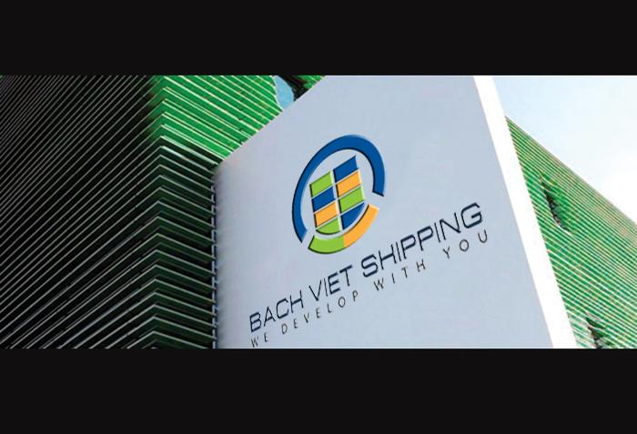 Thiết kế logo và nhận diện thương hiệu Bach Viet Shipping tại Hà Nội, Hải Phòng, TP HCM