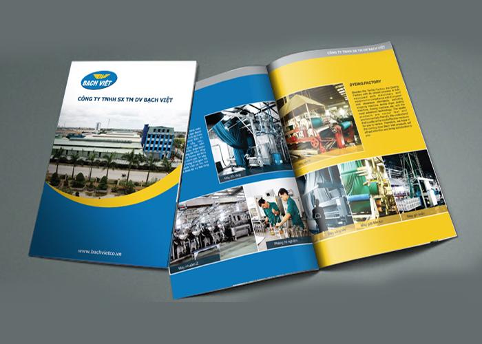 Thiết kế profile Công ty TNHH Sản xuất Thương Mại Dịch vụ Bạch Việt tại TP HCM