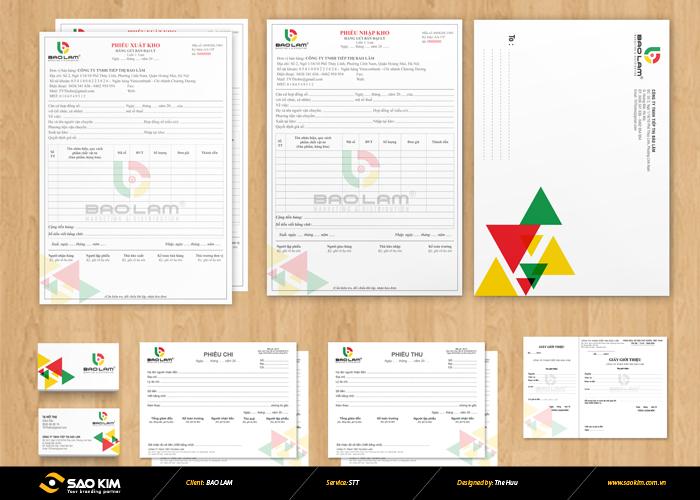 Thiết kế logo và các ấn phẩm nhận diện thương hiệu công ty Bảo Lâm tại Hà Nội