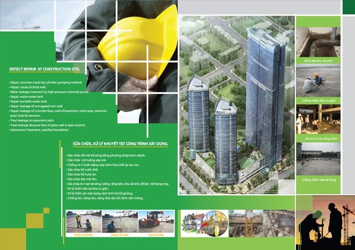 Thiết kế profile cho công ty xây dựng Bảo Tín tại Hà Nội