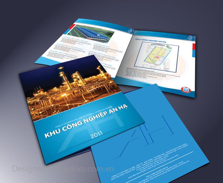 Thiết kế Brochure giới thiệu dự án Khu Công Nghiệp An Hạ tại TP HCM