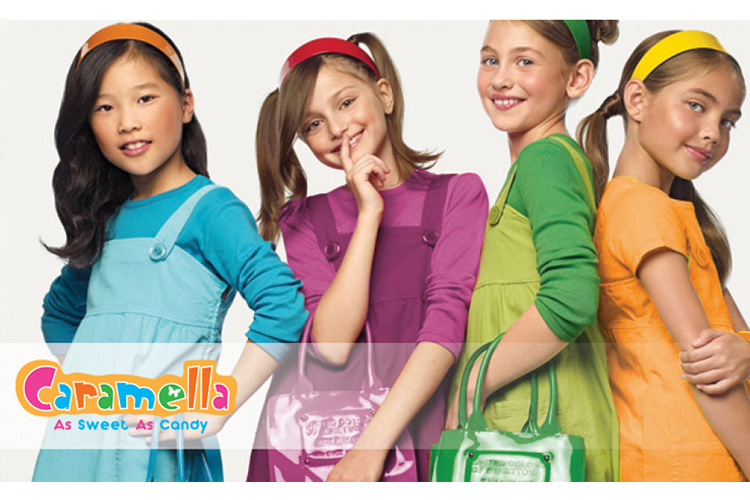 Thiết kế logo thời trang và phụ kiện cho bé gái Caramella tại Hà Nội