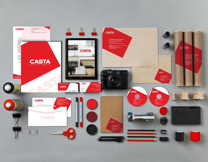 Thiết kế logo nhãn hiệu tủ bếp cao cấp Casta tại TP HCM