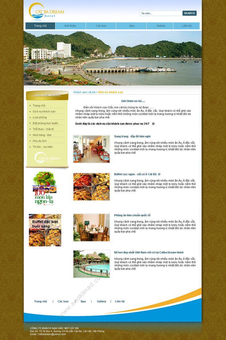 Thiết kế logo và nhận diện thương hiệu khách sạn Cat Ba Dream tại Hải Phòng