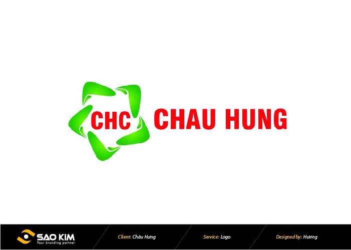 Thiết kế logo Công ty CP Thương mại Châu Hưng tại Hà Nội